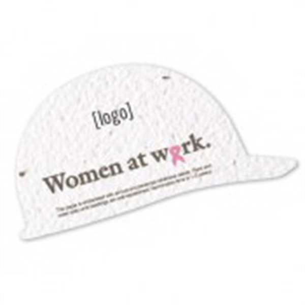Breast Cancer Awareness Stock Art Shape Card - Hard Hat