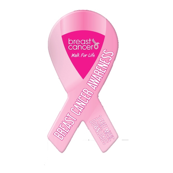 Breast Cancer Custom Shape Music Download Card