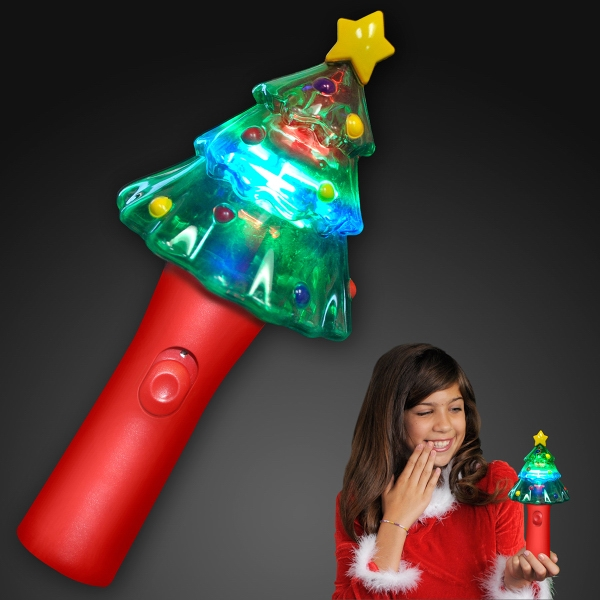 Deluxe Christmas Tree Wand with Spinning Lights