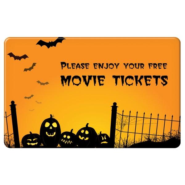 Halloween Movie Ticket Card