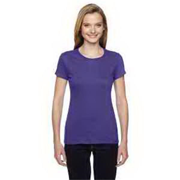 4.7 oz. 100% Sofspun (TM) Cotton Jersey Junior Crew T-Shirt - 4.7 oz. 100% cotton jersey junior crew t-shirt.