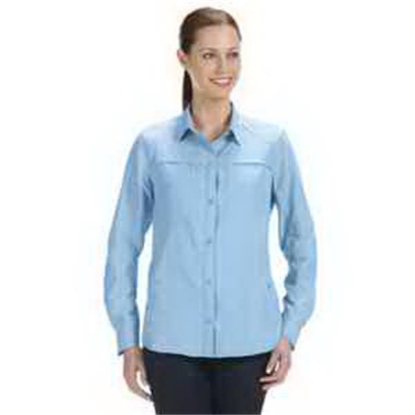 Dri Duck Ladies' Release Fishing Shirt - Ladies' fishing shirt. Repels water and oil based stains. UPF 30+ sun protection. Blank.