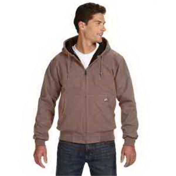 Dri Duck Cheyene Jacket - Work jacket. Heavy-duty metal zipper. Articulated elbows. Rib knit cuffs and waistband with spandex. Blank.