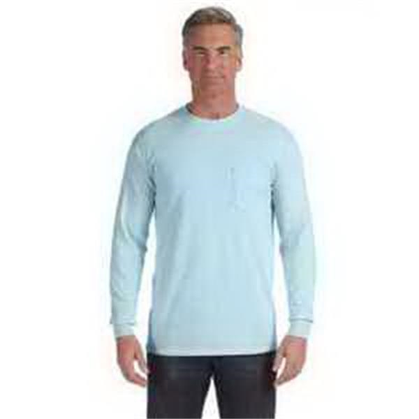 Comfort Colors (R) Long-Sleeve Pocket T-Shirt - Long-sleeve pocket T-shirt. 100% preshrunk ringspun cotton. ribbed collar and cuffs. Blank.