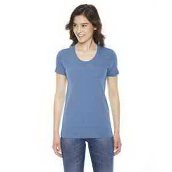 American Apparel Ladies' Triblend Short Sleeve Track T-Shirt - Ladies' triblend short-sleeve track t-shirt.
