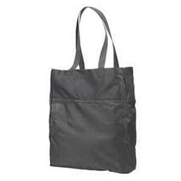 BAGedge Packable Tote - Packable tote. 100% lightweight ripstop polyester. Folds into inside pocket with snap closure. Blank.