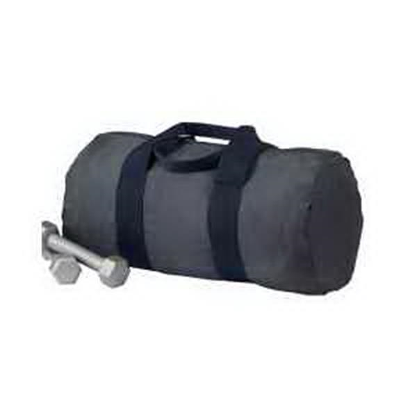 BAGedge Packable Duffel - Packable duffel bag. Folds into inside pocket with snap closure. Polyester webbing straps and handles. Blank.