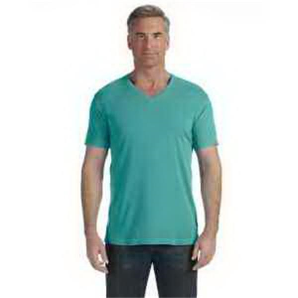 Comfort Colors V-Neck T-Shirt - V-neck T-shirt. 5.5 oz, 100% preshrunk ringspun cotton. Preshrunk, garment-dyed fabric. Blank.
