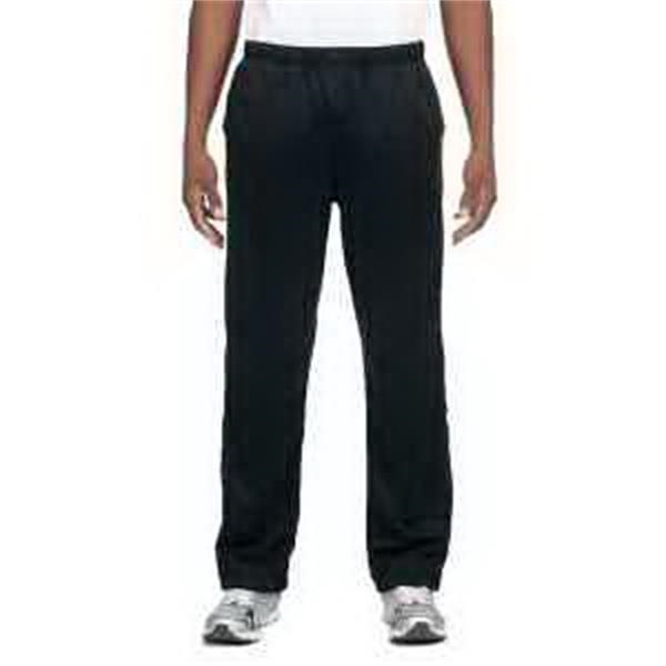 J. America Poly Fleece Pant - Poly fleece pant. Covered elastic waistband with inside drawcord. Sideseam pockets. Outside ankle zippers. Blank.