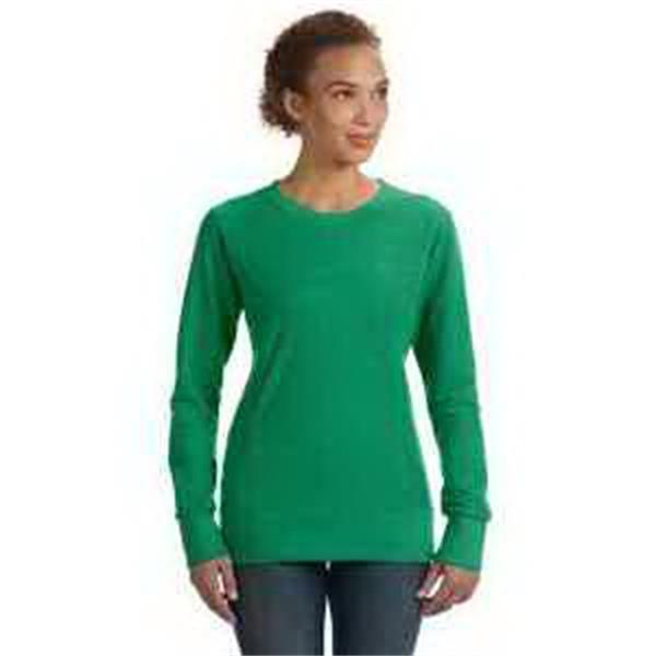 Anvil (R) Ladies' Ringspun French Terry Mid-Scoop Sweatshirt - Ladies' Ringspun french terry mid-scoop sweatshirt. Missy contoured silhouette. Princess seam body.