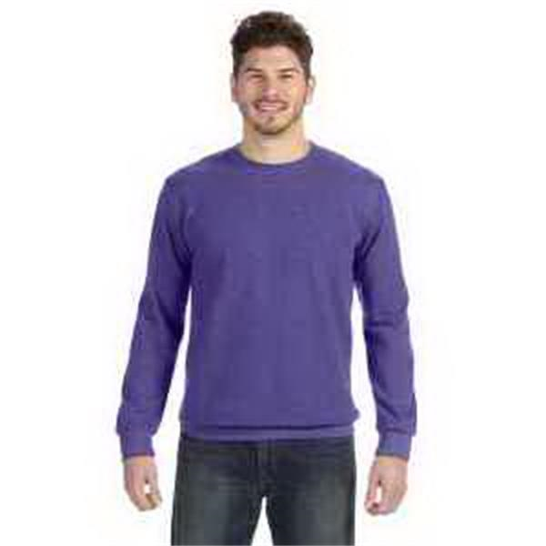 Anvil (R) Ringspun French Terry Crewneck Sweatshirt - Ringspun french terry crewneck sweatshirt. Double-needle topstitch at neck, shoulder and waistband. Blank.