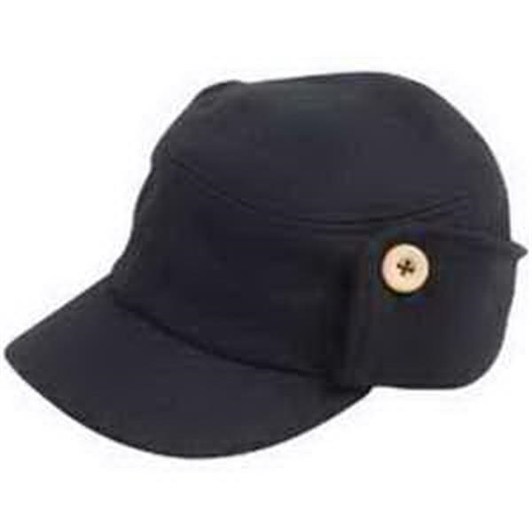 Alternative (R) The Fidel Cap - 100% wool cap. Side flaps that can be let down or kept buttoned up. Unisex regular fit. Blank.