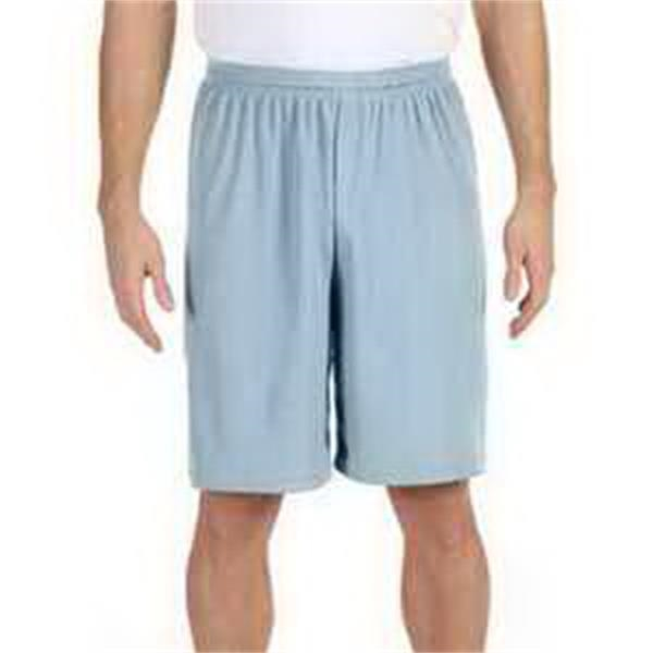 "Alo Sport for Team 365 (TM) Men's Mesh 9"" Short - Men's anti-microbial mesh 9"" short with tear-away label."