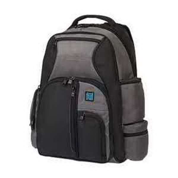 ful Alleyway Touch-N-Go Backpack - Backpack with padded laptop sleeve. Padded tablet sleeve. Multi-side pocket storage. Blank.