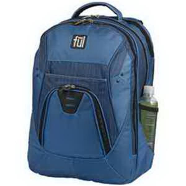 ful CoreTech Gung-Ho Backpack - Backpack. Padded laptop compartment. Tablet sleeve with padding. Elastic bottle pouch. Blank.