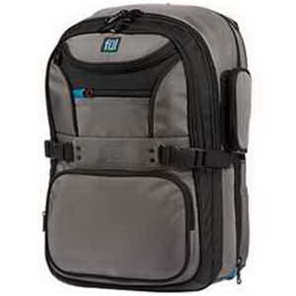 ful (R) Alleyway #Cruncher Backpack - Backpack with padded laptop sleeve. Tablet sleeve. Shoulder strap media organizer. Blank.