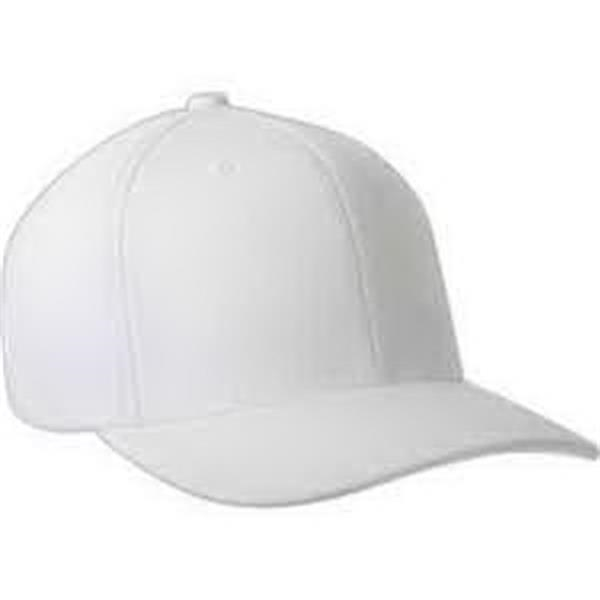 "Flexfit (R) 110 Performance Serge Solid Cap - Performance serge solid cap. 6-panel. Structured. Mid-profile. Hook and loop closure. 3 1/4"" crown. Blank."