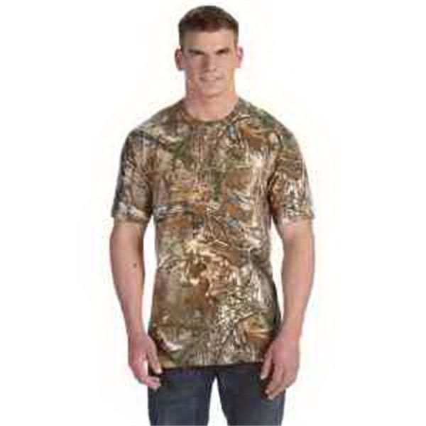 Code V REALTREE (R) Camouflage Pocket T-Shirt - Camouflage T-shirt. Left chest pocket. Double-needle hemmed sleeves and bottom. Blank.