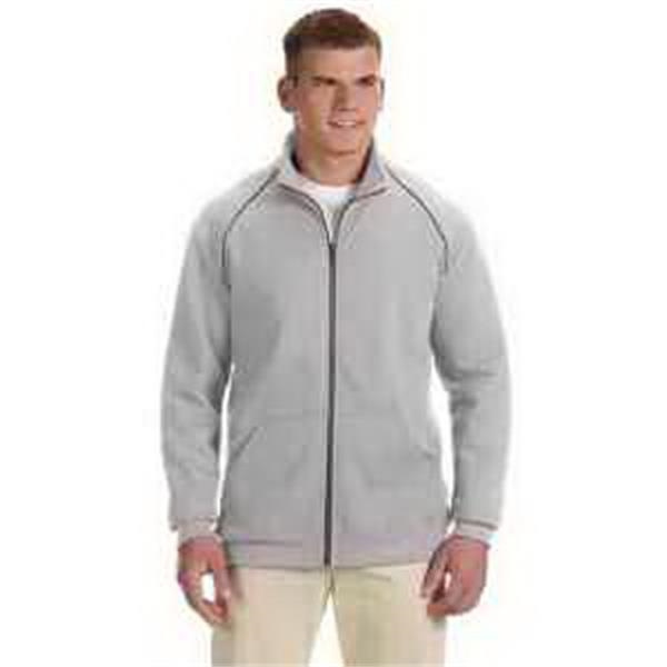 Gildan (R) Premium Cotton (TM) 9 oz Fleece Full-Zip Jacket - 9 oz ringspun fleece full-zip jacket. Blank.