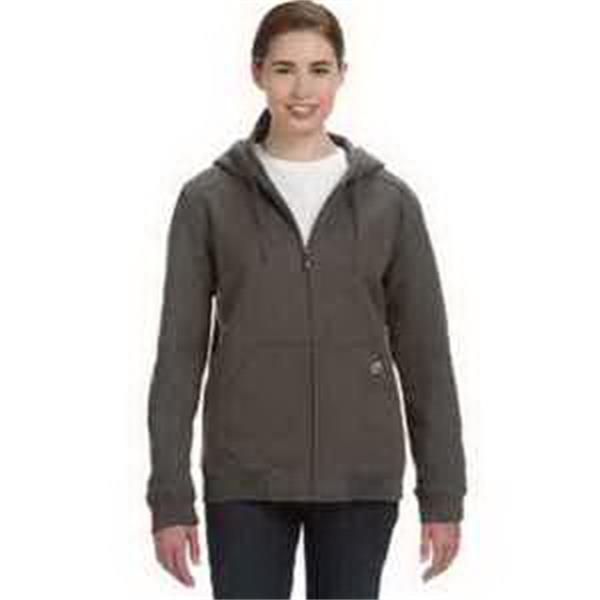 Dri Duck Ladies' Wildfire - Ladies' heavy duty fleece jacket. Three-piece hood. Heavy-duty zipper. Articulated elbows. Blank.