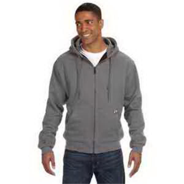Dri Duck Men's Crossfire - Men's heavy duty fleece jacket. Three-piece hood. Heavy-duty zipper. Articulated elbows. Blank.