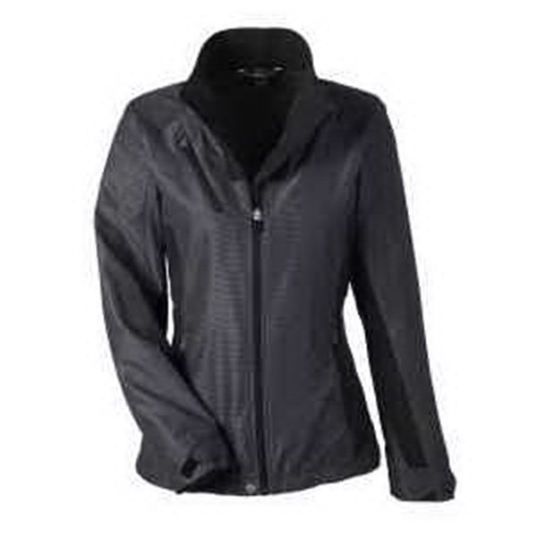 Ladies Interactive Aero Two-Tone Lightweight Jacket - Ladies' two-tone lightweight jacket with right-chest pocket and lower pockets with contrast reverse coil zippers.