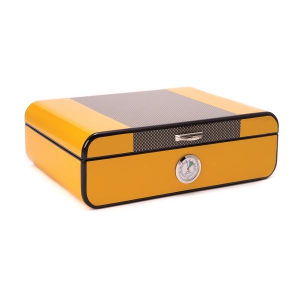 Humidor - Yellow lacquered Cigar Humidor