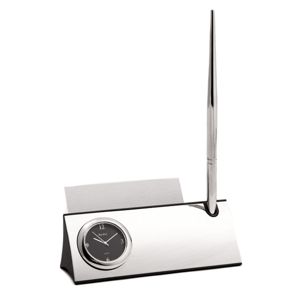 Desk Pen and Clock Stand