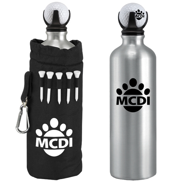 22oz. Gavin Stainless Steel Golf Bottle Set With Bag