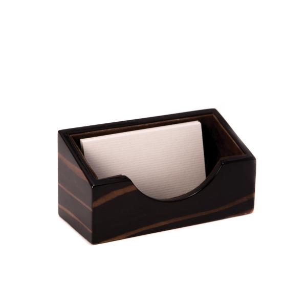 Business Card Holder - Ebony wood business card holder