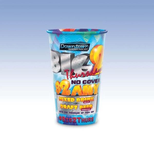 24oz-Reusable Clear Plastic Cups