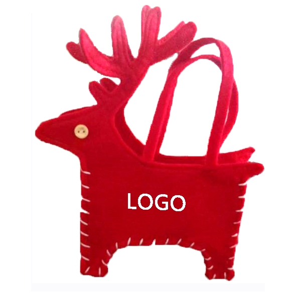 Deer-shaped Christmas Gift Bags