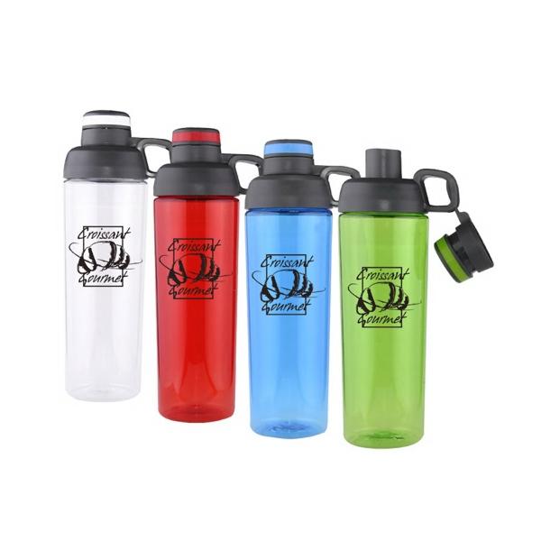 30 Oz. Flip Top Water Bottle W/ Dual Openings