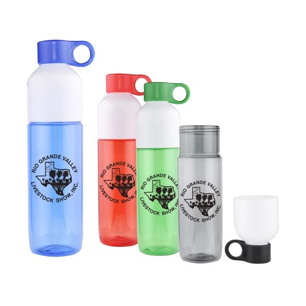 24 Oz. 2-Tone Water Bottle W/ Dual Openings