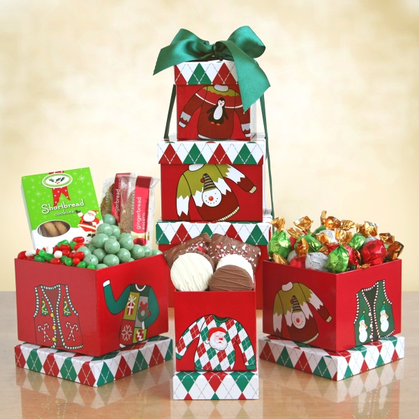 Holiday 'Ugly Sweater' Snack Tower