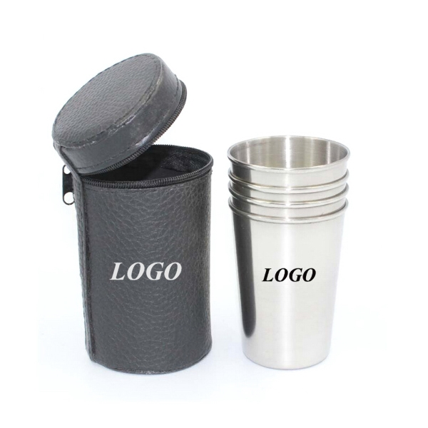 Stainless Steel Drinking Cup Set