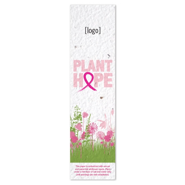 Fully Plantable Bookmark: 4 Breast Cancer Awareness Designs