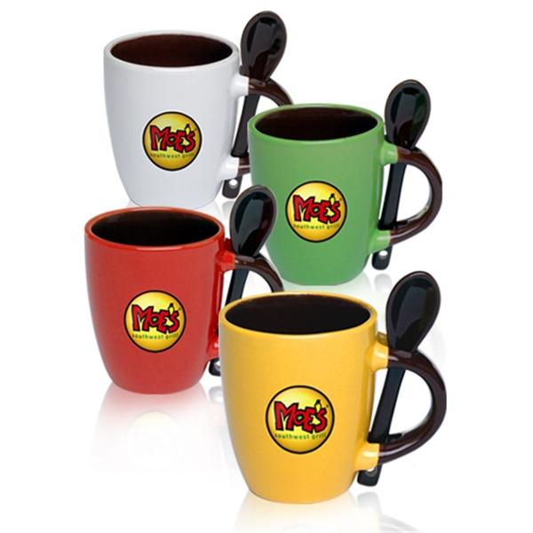 3 oz Ceramic Espresso Mug with Matching Spoon