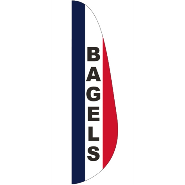 3' x 15' Message Feather Flag - Bagels