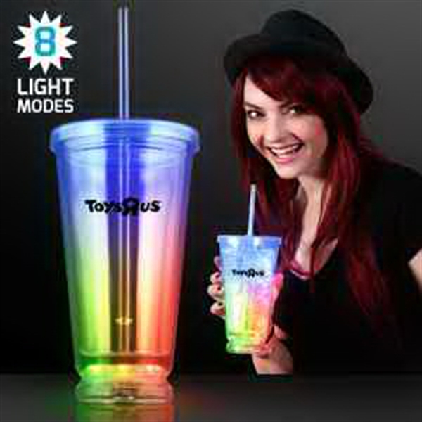 Light Up Multicolor Deluxe Double Wall Tumblers