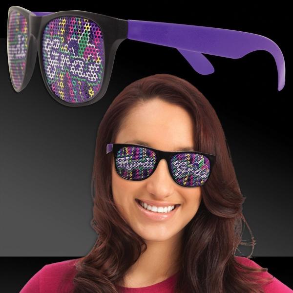 Mardi Gras Beads Purple Mardi Gras Sunglasses