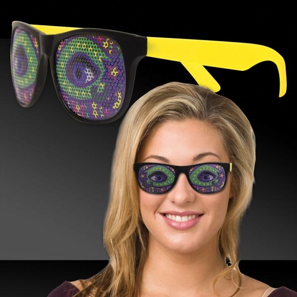 Mardi Gras Eyes Yellow Billboard Sunglasses