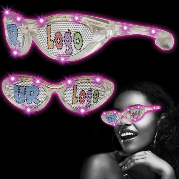 Pink Custom LED Billboard Sunglasses
