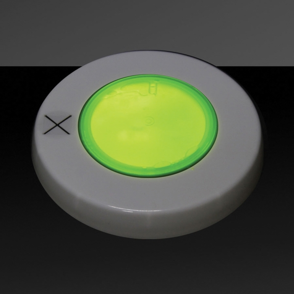 Yellow Glow Light Up Cover Lid