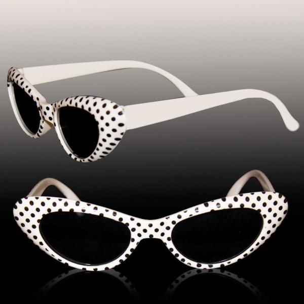 White Polka Dot Funky costume Children's sunglasses Glasses