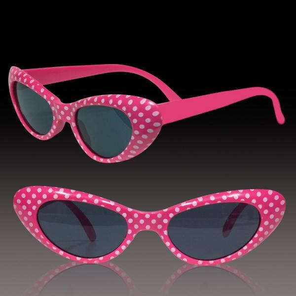 Pink Polka Dot Funky Costume children's  sunglasses Glasses