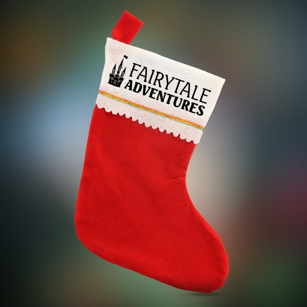Red Felt Christmas Stocking - Imprinted