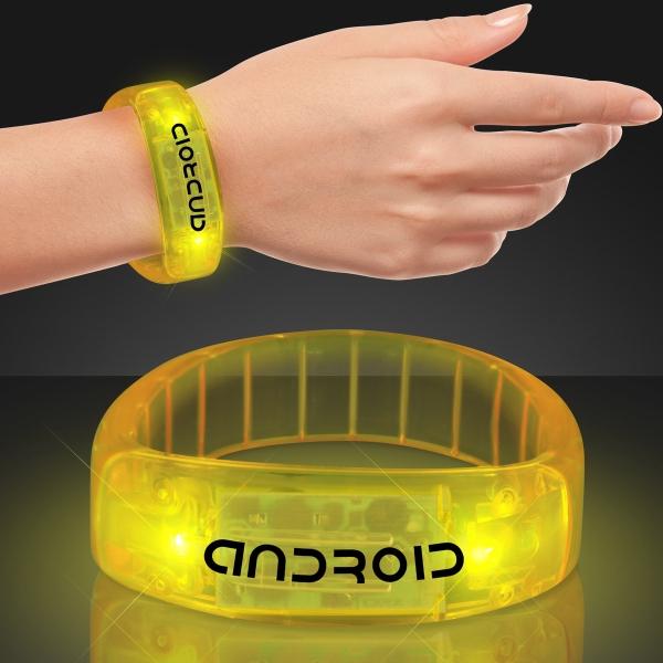 Yellow fashion LED bracelet