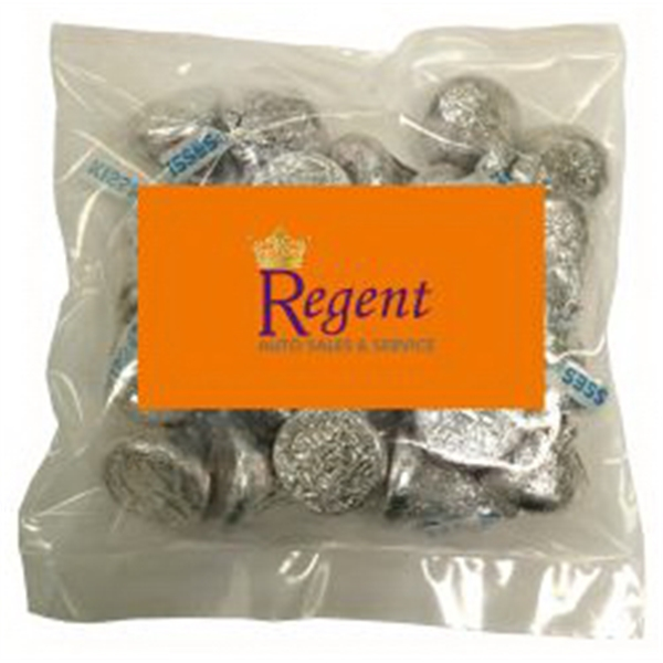 Business Card Magnet w/Large Bag of Hershey Kisses