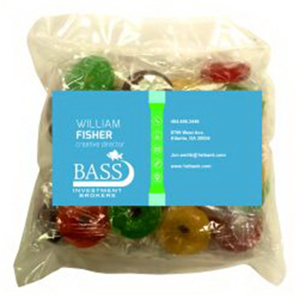 Business Card Magnet w/Large Bag of Lifesavers